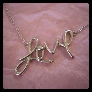 "Stella and dot ""love"" necklace"
